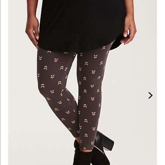 f9cf26e296a NWT torrid size 1 fox print leggings